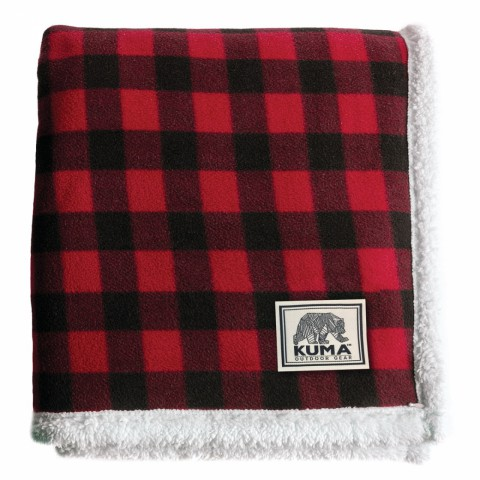 "Red Lumberjack Sherpa Throw - 50"" x 60"""