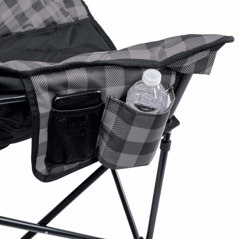 Checkered Lazy Bear Camping Chair