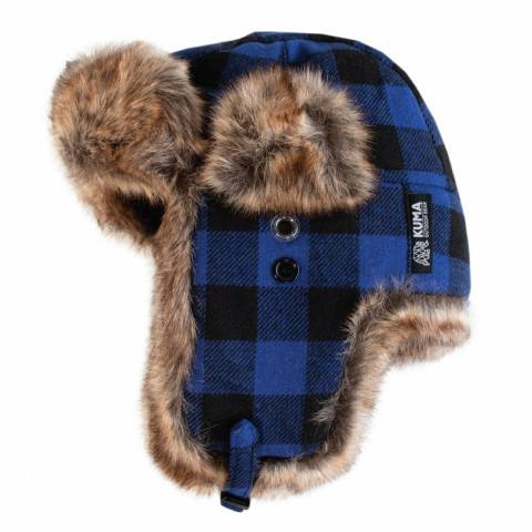 Blue Fur Trapper Cap